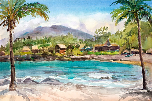 Kona Village Mountain View - Water Color