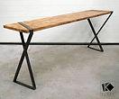 console chene metal fabricant mobilier bois acier begard lannion pluzunet