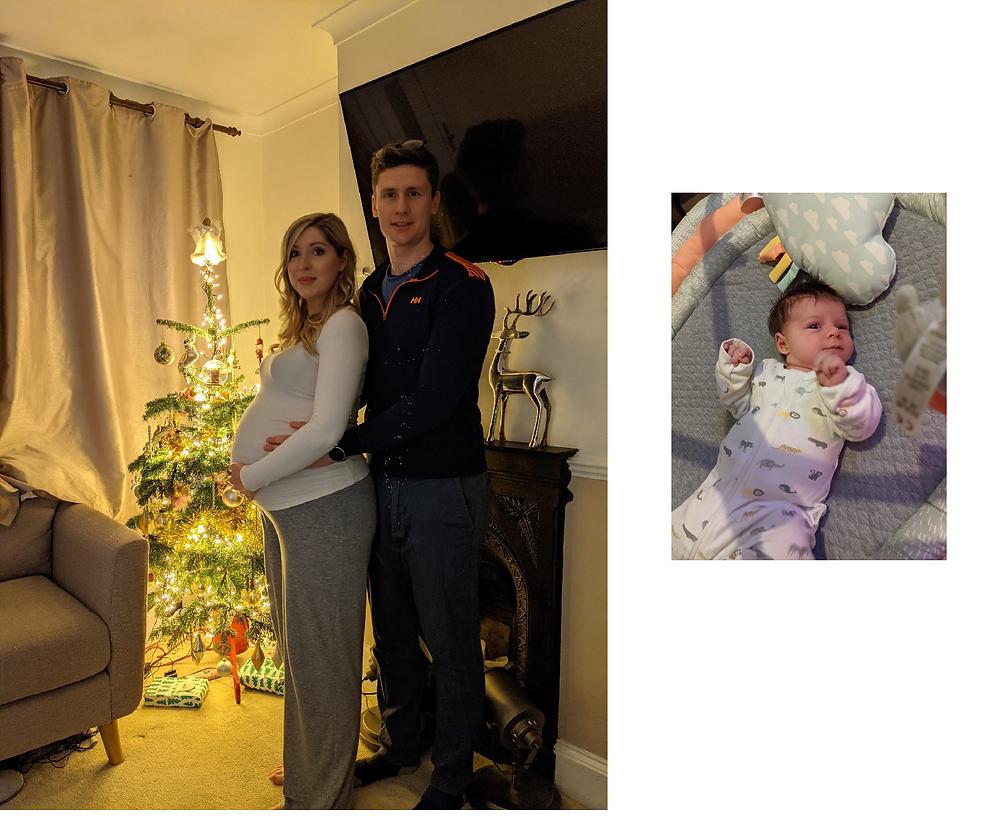 Ashley, Haydon & baby bump, and Jenson at 4 weeks old