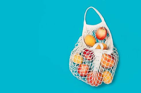 Apricots in mesh bag - zero waste