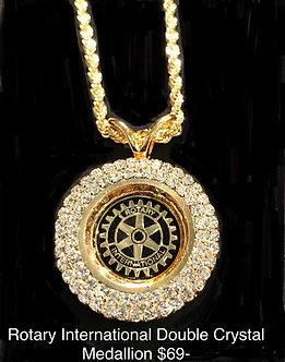Rotary International Double Crystal Medallion