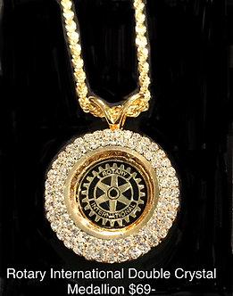 Rotary International Double Crystal Medallion