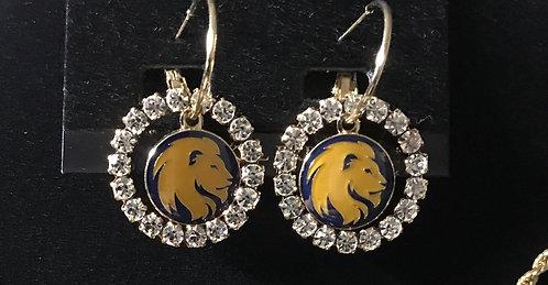 Lions Head Earring Set