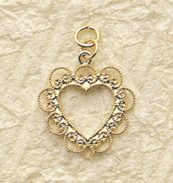 Lace Heart Charm Pair