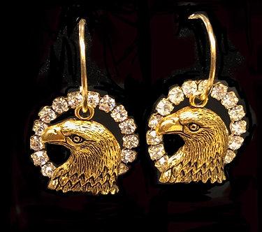 Eagles F.O.E. Crystal Earring Set