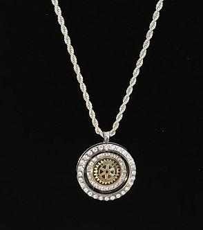 Rotary International Crystal Locket