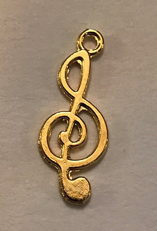 Music Note and Clef Charm Pair