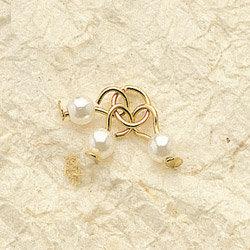 Triple Pearl Charm Pair