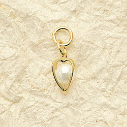 Pearl Heart Charm Pairs