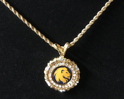 Lions Head Rope Medallion