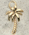 Palm Tree Charm Pair