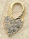 Crystal Frame Heart Locket Charm Pair