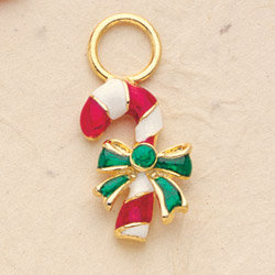 Candy Cane Charm Pair