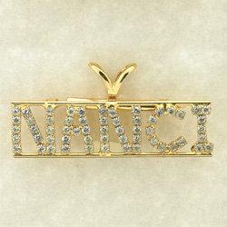 Crystal Name Pin