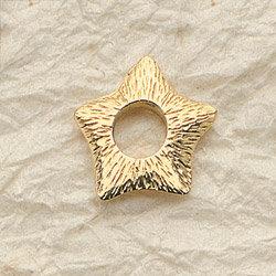 Serrated Star Charm Pair