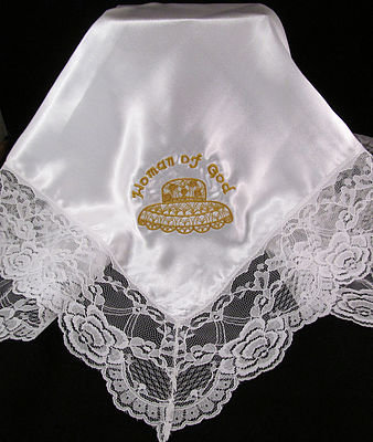 WOMAN OF GOD SATIN HANKIE