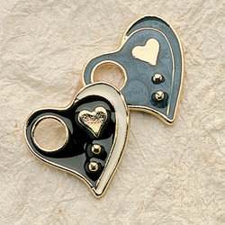 Jessica's Heart Charm Pair