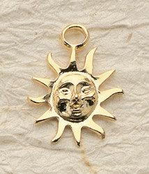 Large Sun Charm Pair