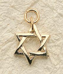 Star of David Charm Pair