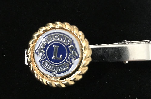 Lions International Tie Clasp