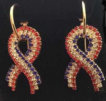 Patriotic Ribbon Earring Set