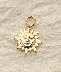 Small Sun Charm Pair