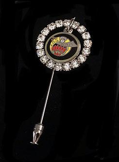 Ladies Oriental Shrine Crystal Ring Stick Pin