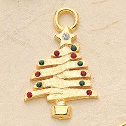 Christmas Tree Charm Pair