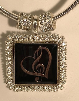 I Love Music Pendant