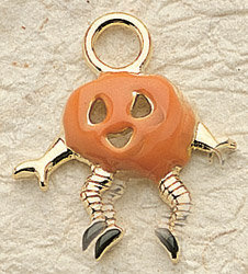 Happy Pumpkin Charm Pair