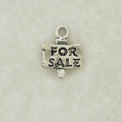 For Sale Sign Charm Pair