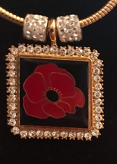 Poppy Square Medallion
