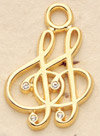 Large Double Clef Charm Pair