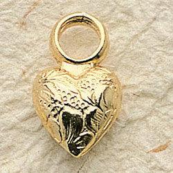 Puffed Heart Charm Pair