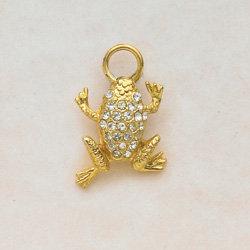 Crystal Frog Charm