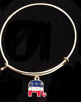 RNC Elephant Adjustable Charm Bracelet