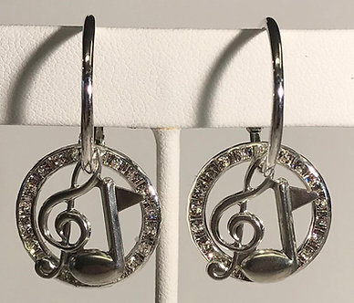 Music Note and Clef with Crystals