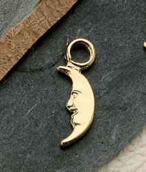 Crescent Moon Charm Pair