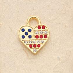 America's Heart Charm Pair