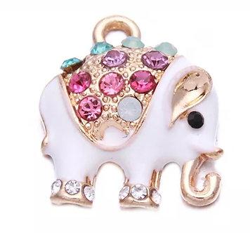 Crystal Decorated Elephant Charm