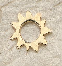 Aztec Sun Charm Pair