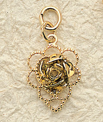 Delicate Rose Charm Pair