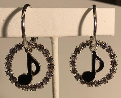 Black Notes with Crystals