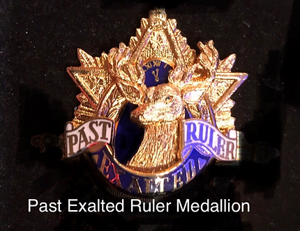 Elks Lodge Past Exalted Ruler Medallion
