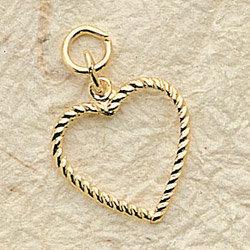 Delicate Frame Heart Charm Pair