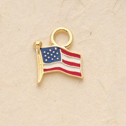 American Flag Charm Pair