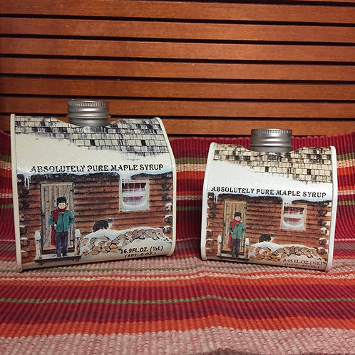 Log Cabin Tin Pure NYS Maple Syrup