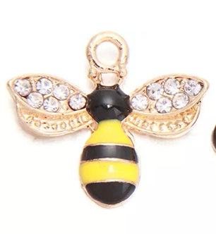 Crystal Yellow Jacket Charm Pair
