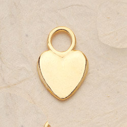 Polished Heart Charm Pair