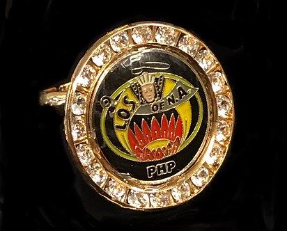 Ladies Oriental Shrine Crystal Adjustable Ring